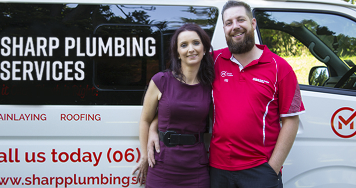 Rod and Charlotte, Sharp Plumbing Services Wanganui